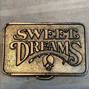 Tri Star Pictures Sweet Dreams 1985 belt buckle